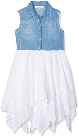 Jolly Rascals Girl s Denim Chambray Dress 42886f78cf0