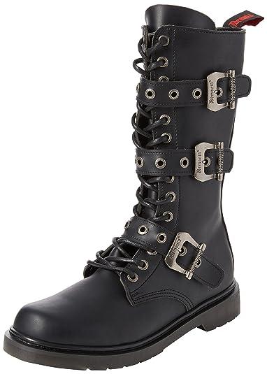 1aa5ef93772b2c Demonia Herren DEFIANT-303 Klassische Stiefel Schwarz (Blk Vegan Leather) 36  EU