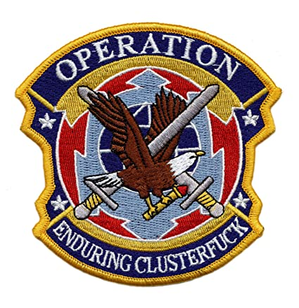 280fa04eaec Amazon.com  U.S. Military Embroidered Patch - OPERATION CLUSTERFUCK ...