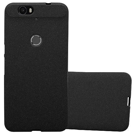 Cadorabo Funda para Huawei Nexus 6P en Frost Negro: Amazon ...