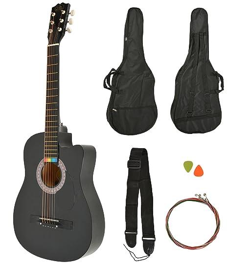 ts-ideen Western - Guitarra acústica, tamaño regular (4/4) con