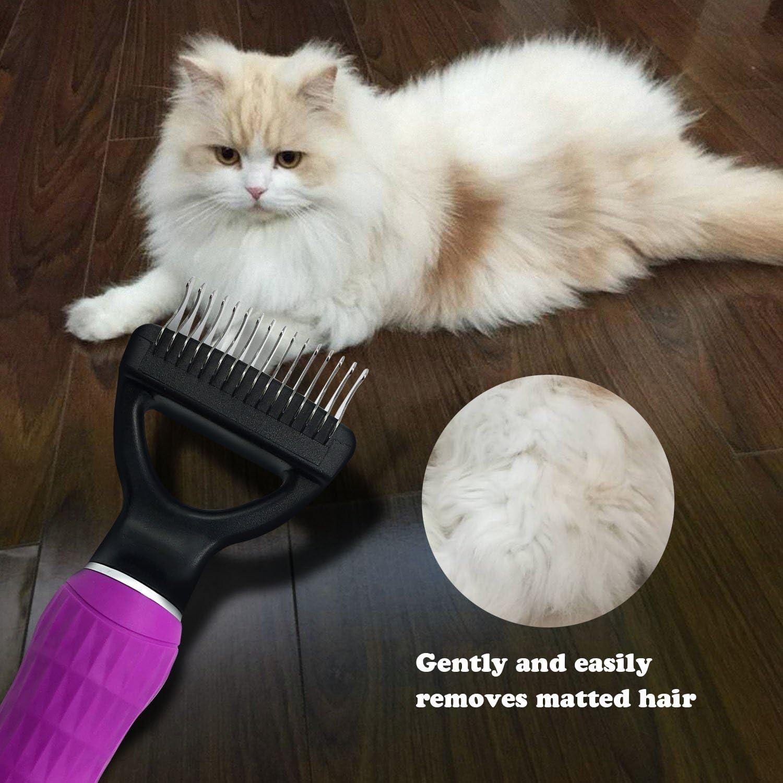 FurPro Pet Dematting Comb Grooming Undercoat Rake for Medium to Large Dogs Cats