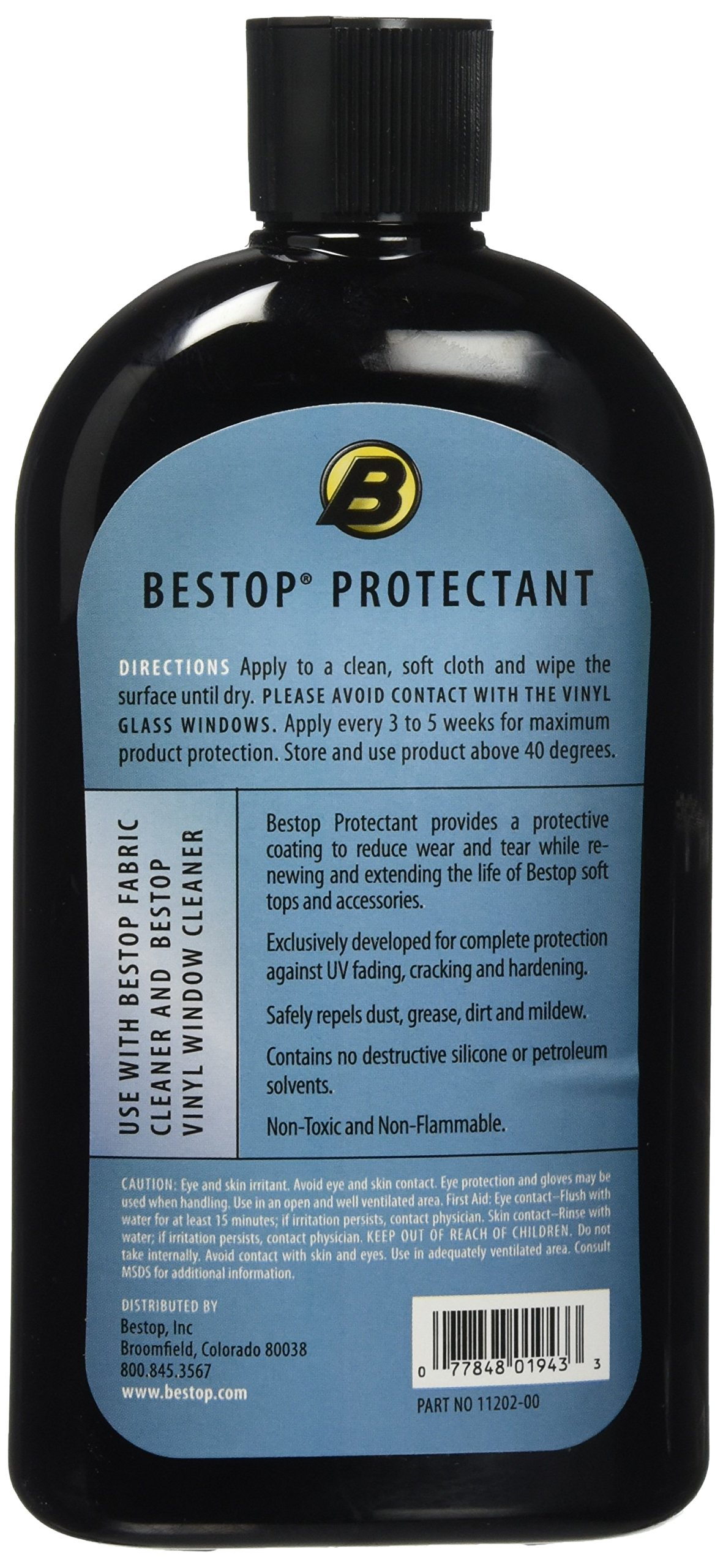 Bestop 11212-00 Vinyl Fabric Protectant, 16 oz single bottle - boxed by Bestop (Image #2)