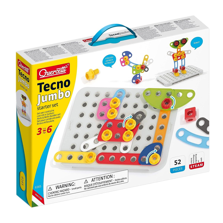 quercetti –  Tecno Jumbo Starter Set 6165, Color Los Unidades en la Paquete Tiene Muchos Colores