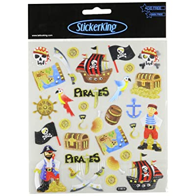 Tattoo King Multi-Colored Stickers-Pirates Glitter: Arts, Crafts & Sewing