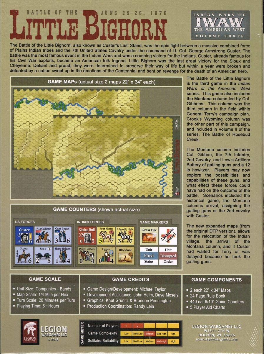 Tactical Wargame The Battle of The Little Bighorn– Indian Wars of The American West Vol.3: Amazon.es: Juguetes y juegos