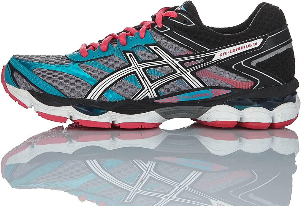 Asics Zapatillas Performance Gel-Cumulus 16 Gris/Multicolor EU 44.5 (US 12): Amazon.es: Zapatos y complementos