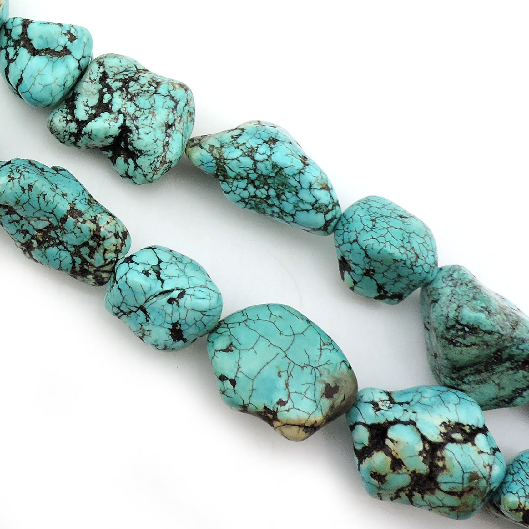 """16/""""L turquoise Gemstone Jewelry Loose Chip Beads 1 Strand"""