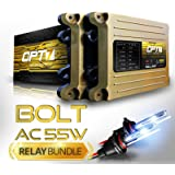 Bolt AC 55w Hi-Power H11 (H8, H9) HID Kit - Relay Bundle - All Bulb Sizes and Colors - 2 Yr Warranty [6000K Lightning Blue Xenon Light]