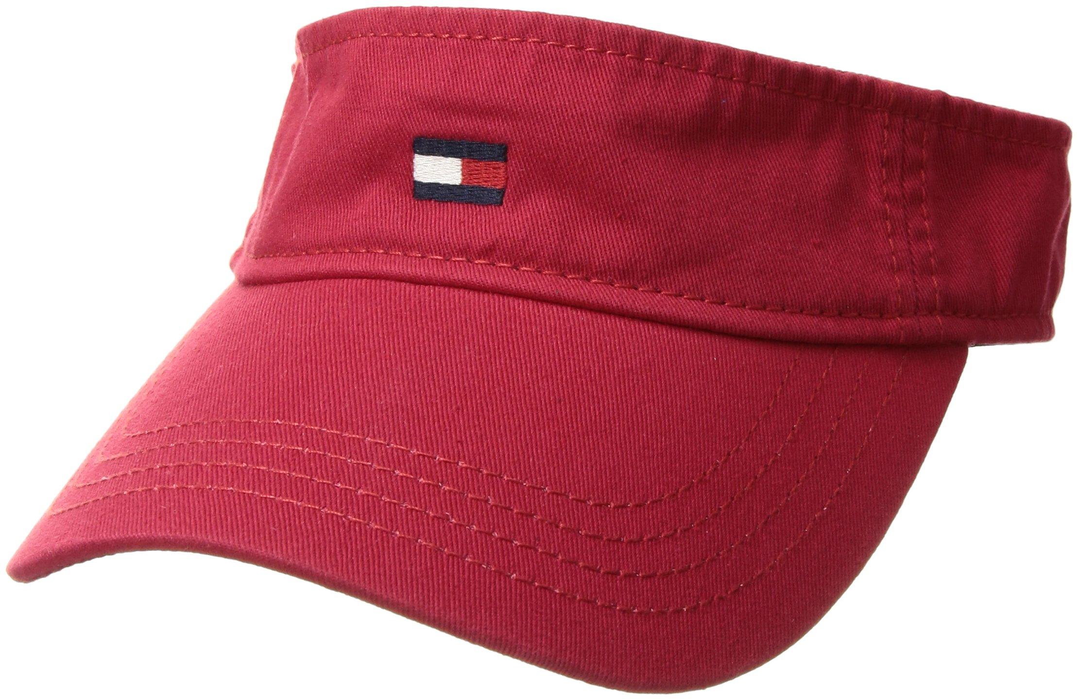 e8cd9d8d Galleon - Tommy Hilfiger Men's Dad Hat Flag Solid Cotton Visor, Tango Red,  O/S