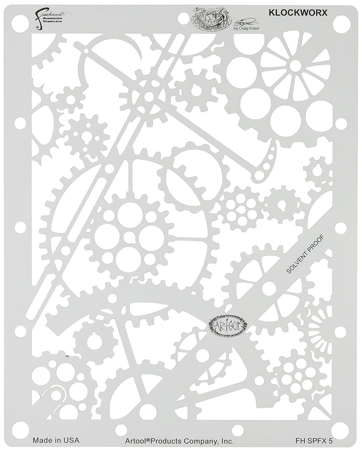 Amazon.com: Artool Freehand Airbrush Templates, Steam Punk Fx Template - Klockworx: Toys & Games