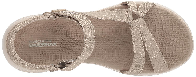 Skechers Women's on-The-Go 600-Brilliancy W Wide Sport Sandal B072T3DC2P 9 W 600-Brilliancy US|Natural 55f921