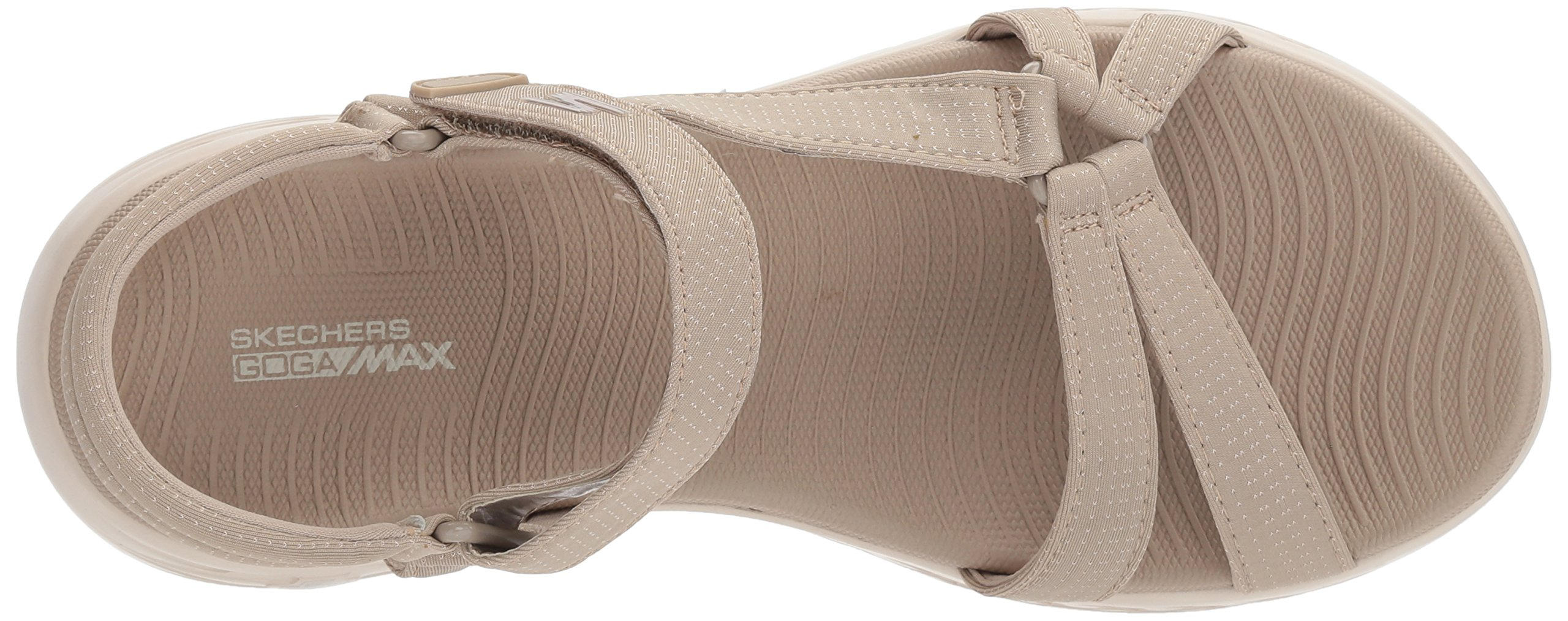 Skechers Performance Women's on-The-Go 600-Brilliancy Wide Sport Sandal,Natural,6 W US by Skechers (Image #8)