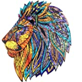 Wooden Jigsaw Puzzles, 130 Uniquely Shaped Animal-Shaped Puzzle Pieces, The Best Gift for Adults and Children, Majestic Lion