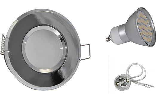 simple spot encastrable de salle de bain ip led couleur chrome v w with eclairage douche ip65. Black Bedroom Furniture Sets. Home Design Ideas