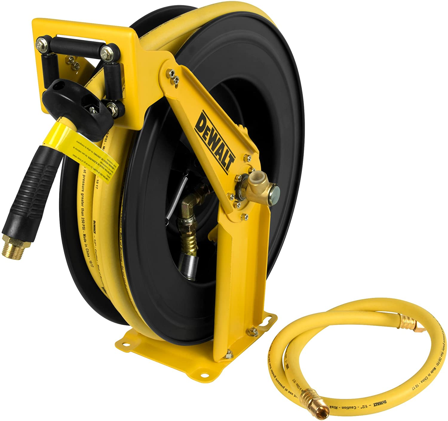 "DeWalt DXCM024-0344 Double Arm Hose Reel with 1/2"" x 50' Premium Rubber Hose - -"