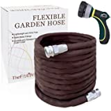 TheFitLife Heavy-Duty Flexible Garden Hose - Upgraded Leak and Burst Resistant Design, Reinforced Water Hose with Metal Fitti