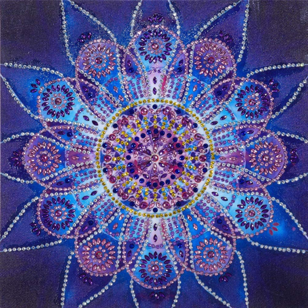 Wood Painted Purple Hand Flower Necklace Round Fashion String Dots Mandala Mandala Zen Art Jewelry Earring Set Pink