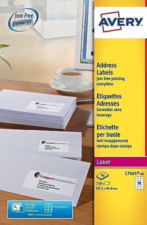 Amazon Avery Dennison Quickpeel Addressing Labels L7161 40