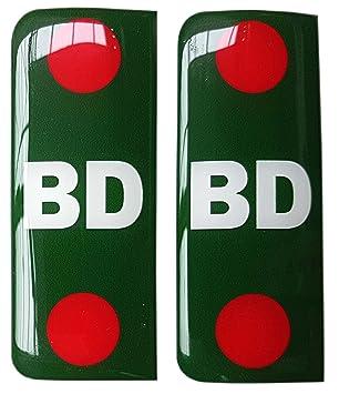 Bangladesh Number Plate Sticker Decal Badge Bangladeshi Flags 3d