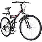 "ORKAN Folding Mountain Bike 26"" 7 Speed with Hybrid Suspension / Shimano Folding Bike 20"" 6 Speed"