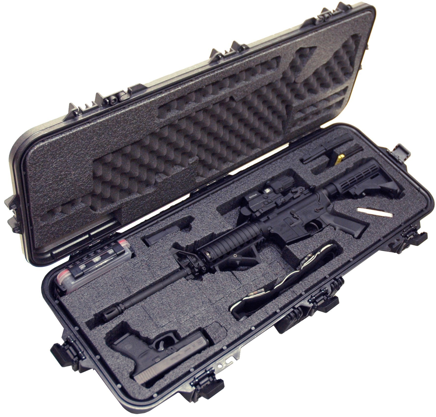 Case Club Pre-Made AR15 Waterproof Rifle Case with Silica Gel & Accessory Box by Case Club