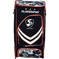SG Players pak Cricket kit Bag, Black/Camo/Orange
