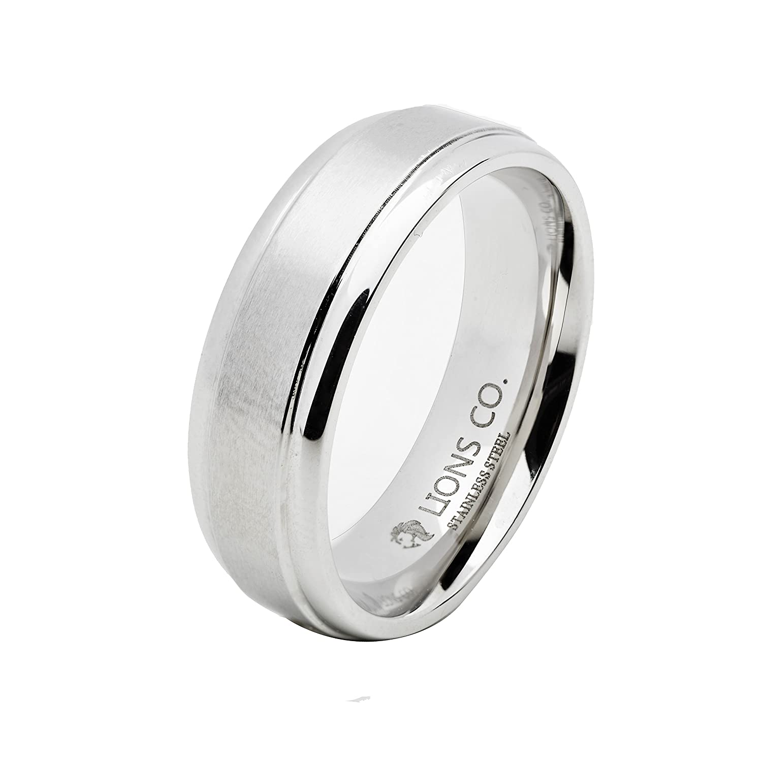 band ring rings products dome semi sparkly finish in sand wholesale steel s wedding stainless main style photo