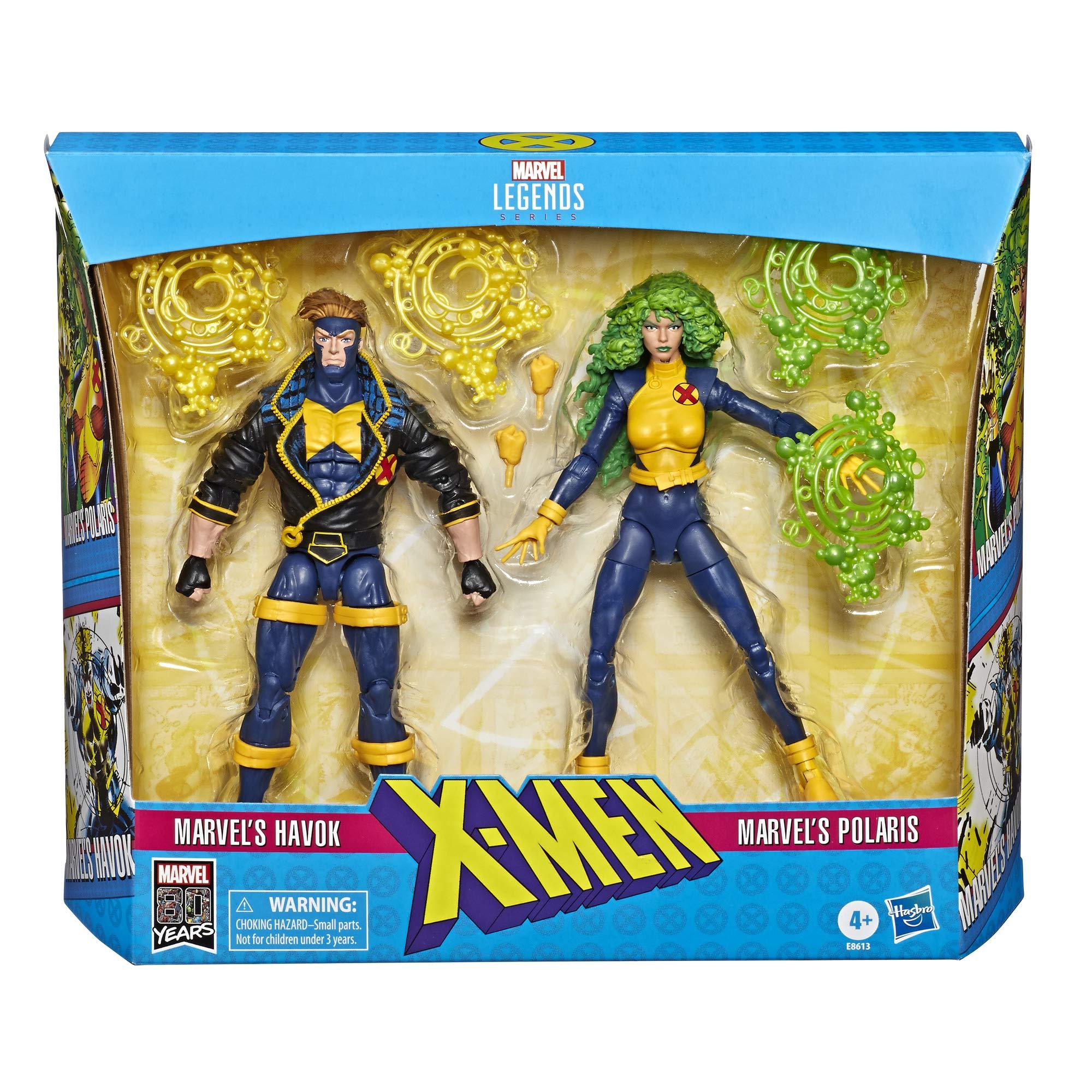 Marvel Classic- Pack of 2 X-Men 15 cm Figures, Multicolour (Hasbro E86135L0), Assorted Color/Model