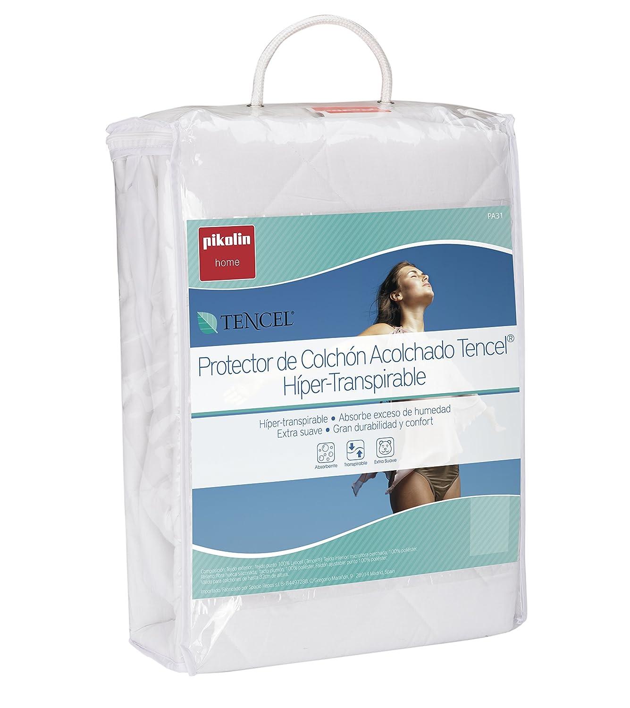 Pikolin Home - Protector de colchón acolchado cubre colchón lyocell, híper-transpirable y extra suave, 90 x 190/200 cm, cama 90 (Todas las medidas): ...