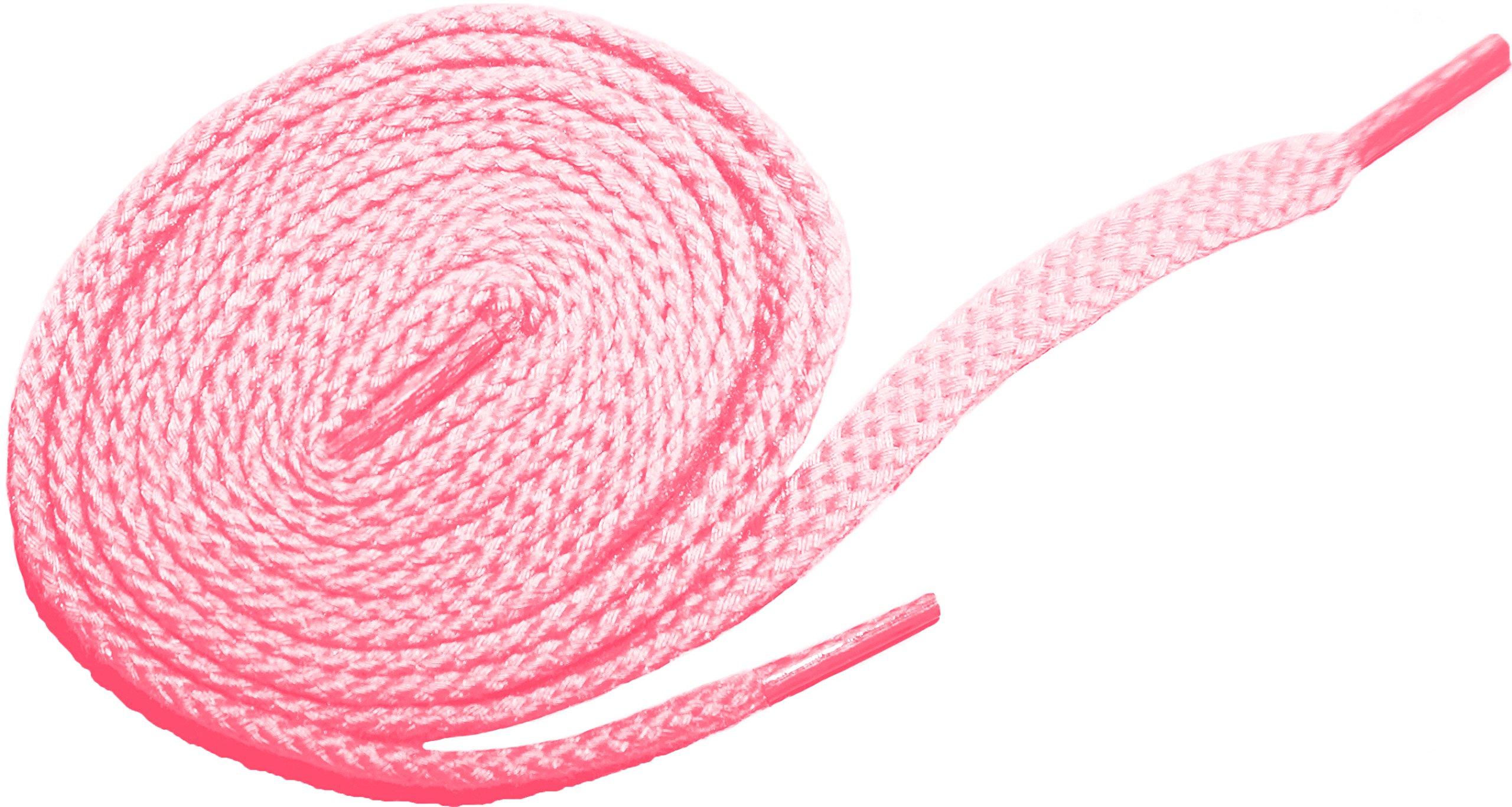 Shoeslulu 20'' Premium Oxfords Chukka Desert Boot Flat Canvas Shoelaces (19.5 in. (50 cm), Cherry Pink) by Shoeslulu (Image #1)