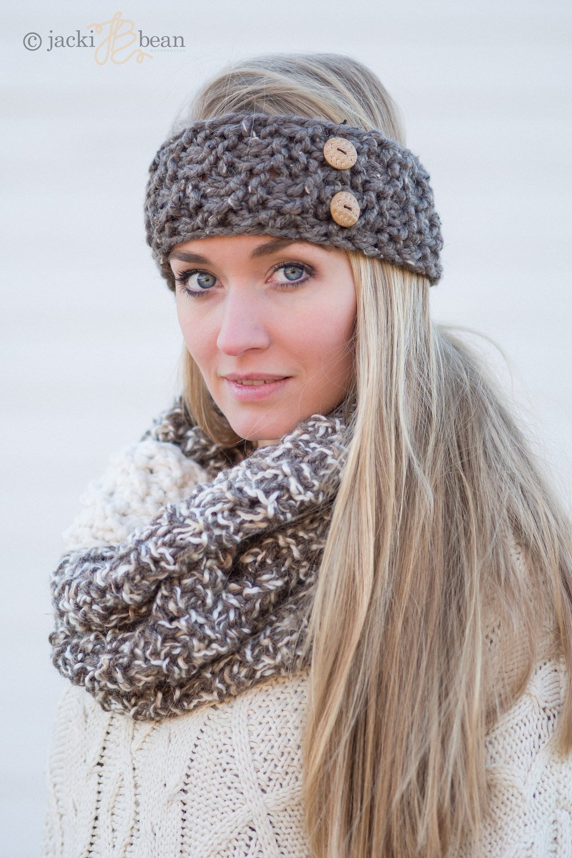 20340806008 Amazon.com  The Button Band-Knitted Headband-Knit Headband-Cozy Ear Warmer-Women s  Fall Winter Fashion Accessory-Gift For Her-Hand Made USA  Handmade
