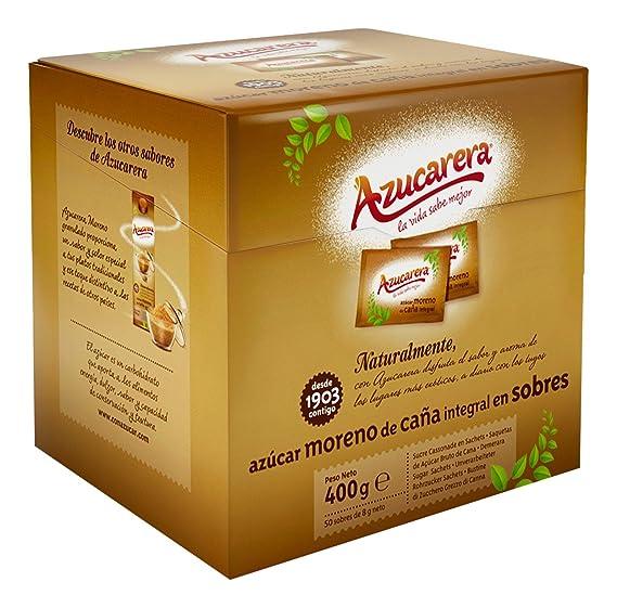 Azucarera - Estuche 50 sobres (8grs) de Azúcar Moreno 400 g