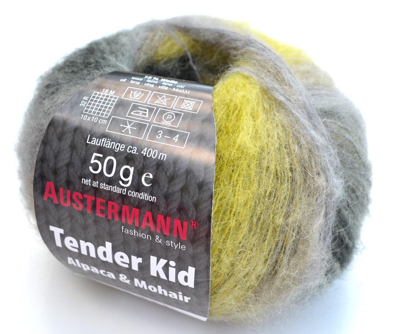 Austermann Tender Kid multiFarbe Fb. 07, Wolle mit Alpaca Alpaca Alpaca & Mohair, softes Garn mit dezentem Farbverlauf, auch als Lacegarn B074W6WDKC Hkel- & Strickgarn 5f6589