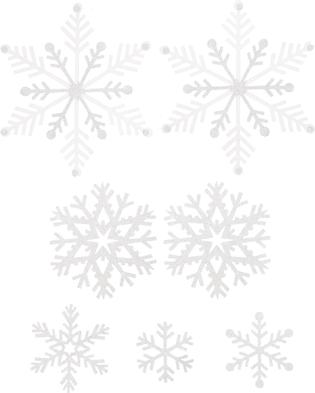 Martha Stewart Die Cut Vellum Snowflakes Holiday Décor, White
