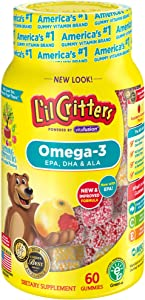 L'il Critters Omega-3 Vitamin Gummy Fish, 60 Count (pack of 3)