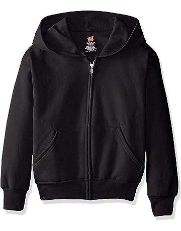 d5eaf8cf7182 Hanes Big Boys  Eco Smart Fleece Zip Hood