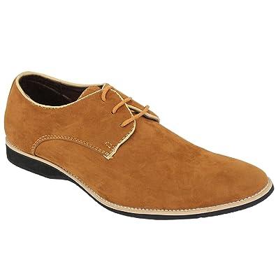 sports shoes dfe78 18064 Gio Gino Italienische Schuhe Herren Formeller Halbschuh Zweiton  Wildleder-Optik Schnürbar Spitz Hochzeit