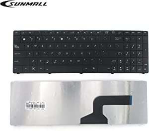 SUNMALL Keyboard Replacement Without Frame Compatible with Asus n53 k54l x55 x55u x55a x54c x54h x55vd x55c r500 f55 f75 Series Laptop Black US Layout