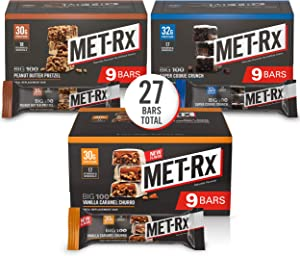 MET-Rx Big 100 Colossal Protein Bars, Healthy Meal Replacement Snack, Variety Pack, 3.52 oz Bars, Pack of 27