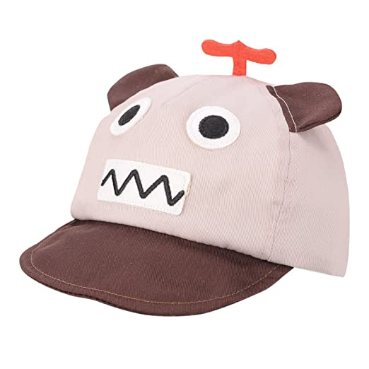 b7fab2e35ce Baby Boy Summer Cap Soft Brim Sun Hat with Ears Cartoon Robot Shape for 12-