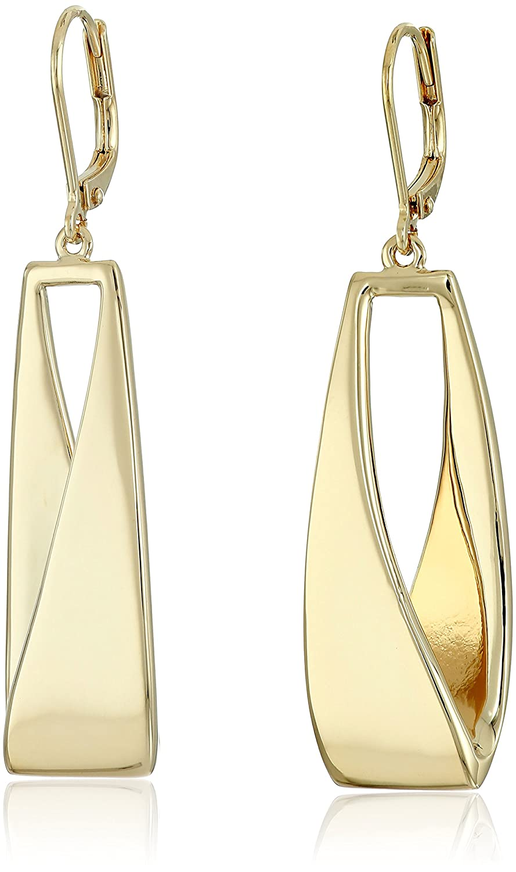 2e8e932dc93c4 Anne Klein Gold-Tone Linear Drop Earrings