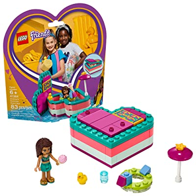 LEGO Friends Andrea's Summer Heart Box 41384 Building Kit (83 Pieces): Toys & Games