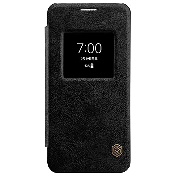online store 1cbf8 fc903 for LG G6 Window View Auto Wake/Sleep Case,Nillkin Premium PU Leather Slim  Folio Flip Cover LG G6 Case,[Qin] Synthetic Leather Hard PC Inner Shell ...
