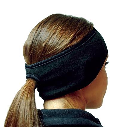 Amazon.com  Hot Headz Polarex Fleece Ponytail Ear Warmer Headband ... 6e10140ae0b