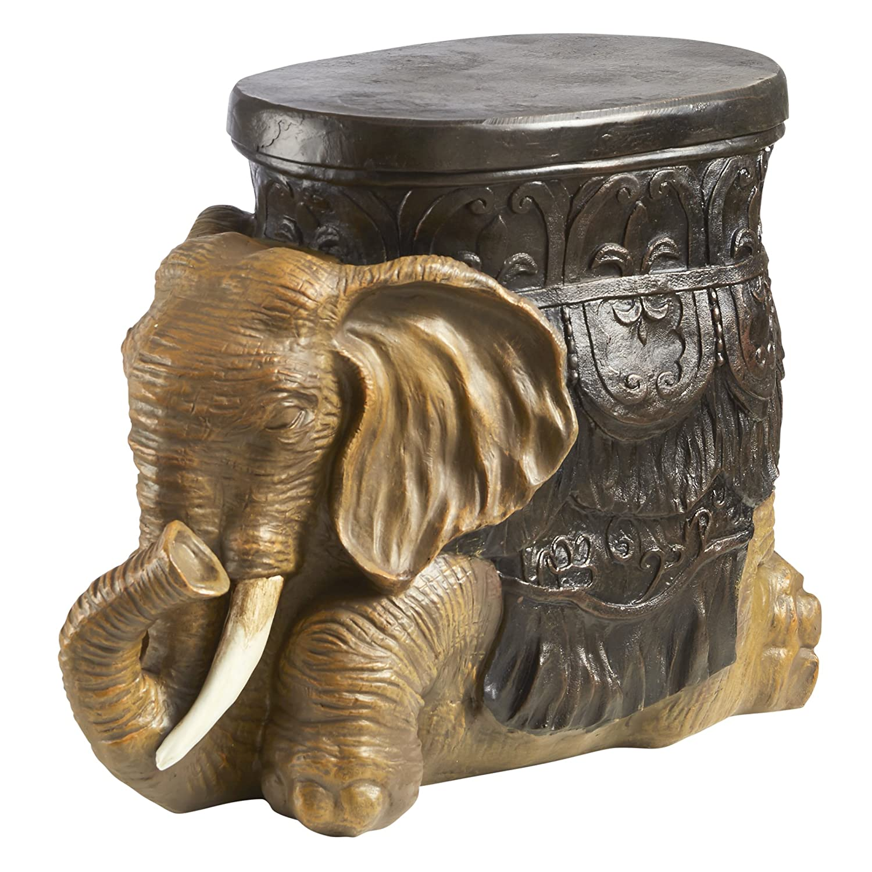 Amazon.com: Design Toscano The Sultans Elephant Sculptural Side ...