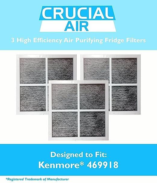 3 REPL Kenmore Elite 9918 Air Purifying Fridge Filters Part # 469918 04609918000