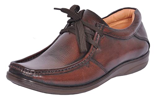 522d32826 Zoom Office Shoes For Men Genuine Leather Dress Formal Shoes Online D-2570- Brown-7  Buy Online at Low Prices in India - Amazon.in