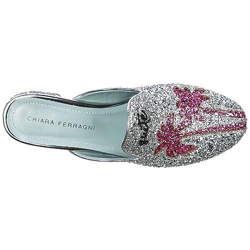 a4ce56a9205 Chiara Ferragni Women's Slippers Sandals Chiara Suite Silver UK Size 3  CF1826