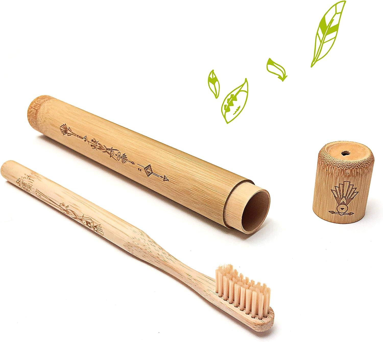 Nature Nerds - Cepillo de dientes de viaje para adultos, estuche ...